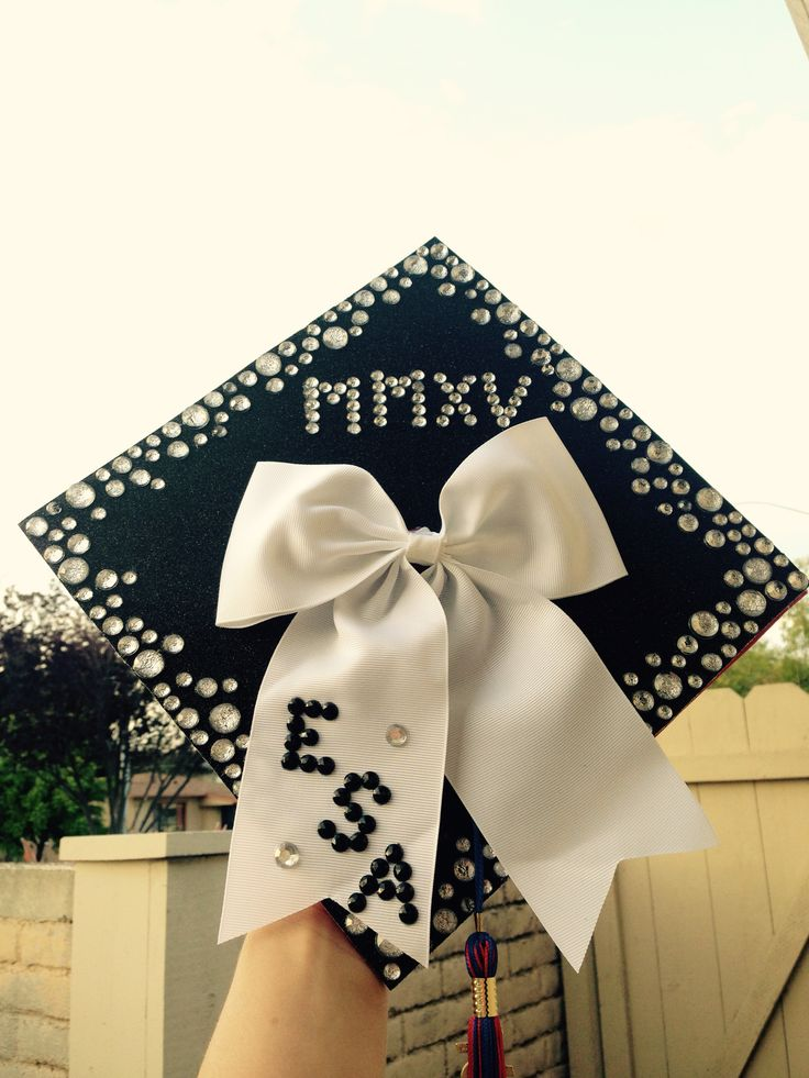 Graduation cap decoration with Roman numerals for 2015 MMXV
