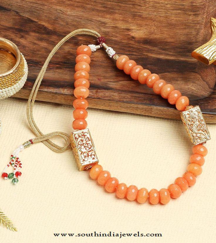 Beaded Jewellery , Beaded Necklace Designs, Short Beaded Necklace Designs