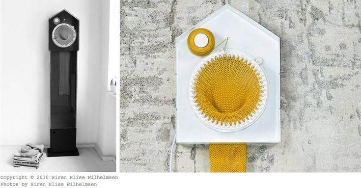 Fantastisk ur, der strikker tiden!  Design Siren Elise Wilhelmsen  MadeinNorwayNow - Blogg om Norsk design - Design - Interiør - Kultur - Fashion - Bunad