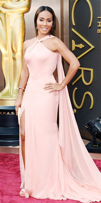 Oscars 2014 Red Carpet Arrivals - Jada Pinkett Smith from #InStyle… She looked stunning in her Versace gown