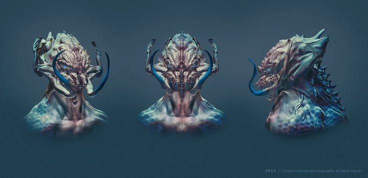 Creature concept alien predator, Ingrid Sasu on ArtStation at https://www.artstation.com/artwork/creature-concept-alien-predator