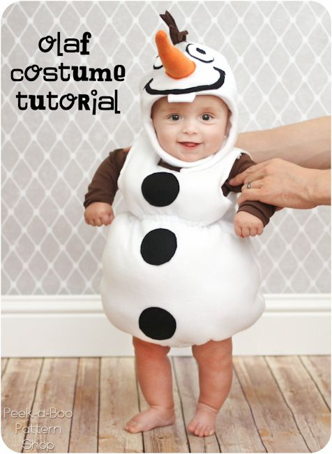 Do you want to build a snowman? Turn your kiddo into a darling snowman with this fun Olaf  inspired costume tutorial!  Made from fleece this snowman costume is a quick and easy sew! Throw it on ov...