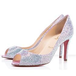 Wedding Shoes: Christian Louboutins, You You 85 MM Aurora Boreale Strass