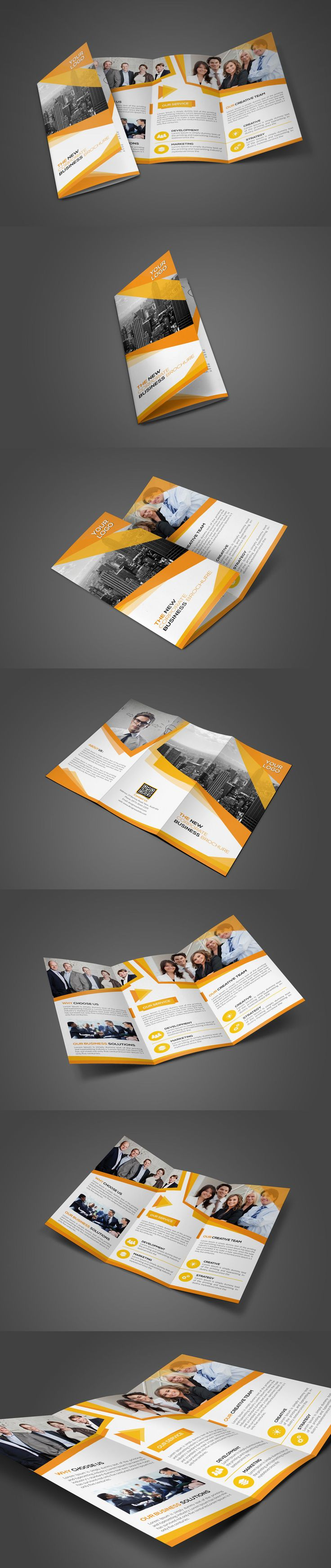 Awesome Creative Corporate Trifold Brochure Template PSD