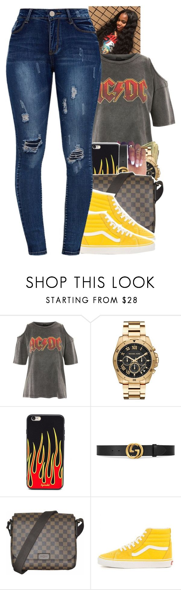 """""""Untitled #2301"""" by txoni ❤ liked on Polyvore featuring And Finally, Michael Kors, Gucci and Louis Vuitton"""