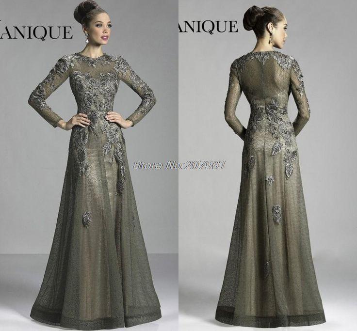 Black A-line Mother of the bride dresses applique Embellished Prom Party Dresses evening dress  MM-0011