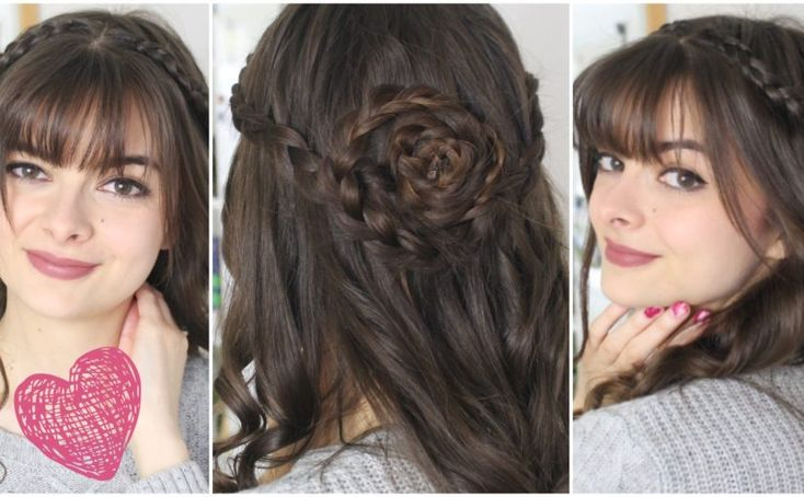 A rose half-updo for Valentine's day