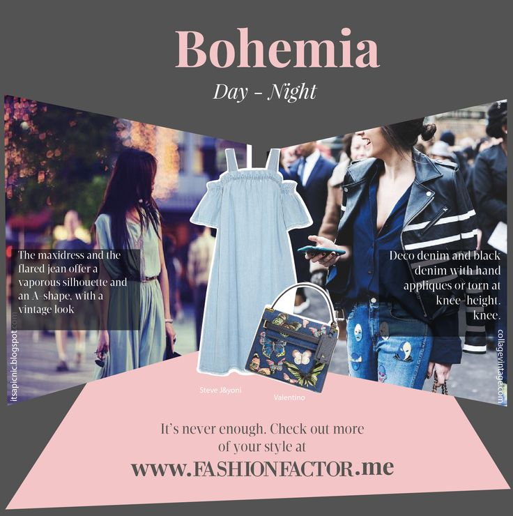 Denim is versatile and has its own personality. Discover how to adapt it to your bohemian style both for daytime and night time