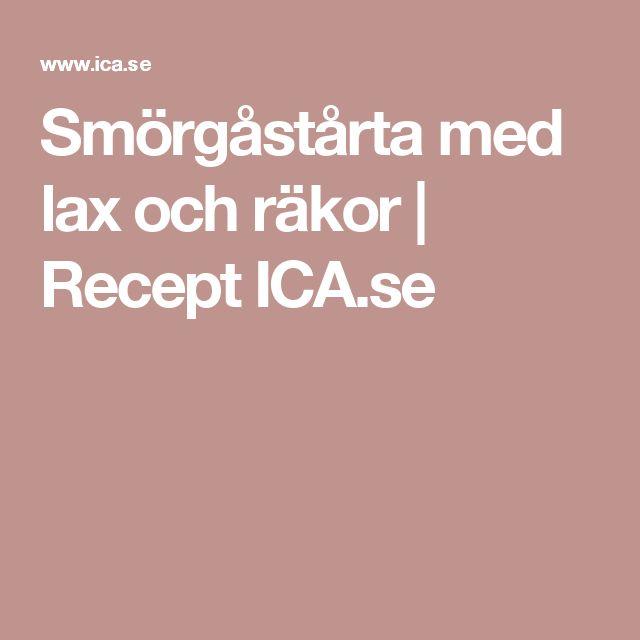 Smörgåstårta med lax och räkor   Recept ICA.se