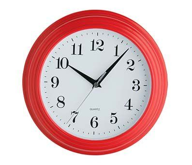 Xxxx Red Vintage Wall Mounted Clock Round Home