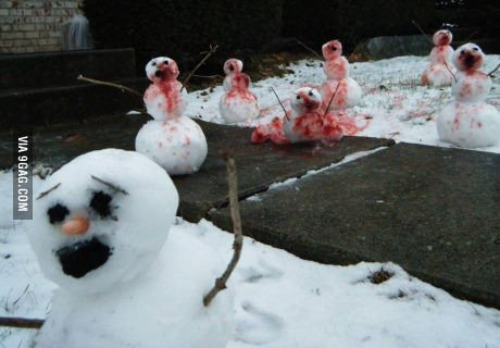 Snowman zombies - Calvin & Hobbes would approve!
