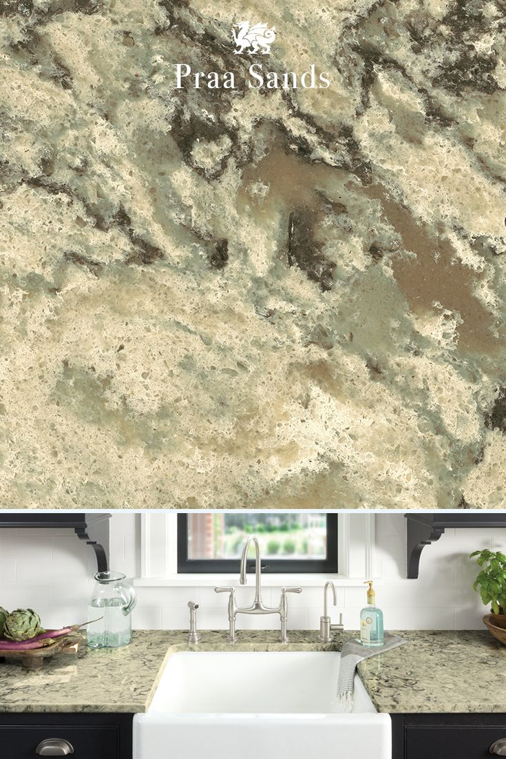 Subtle veining captivates in our PraaSands™ design. If you're looking for a marble alternative that's as beautiful as it is durable, quartz is the perfect choice for a countertop redo.