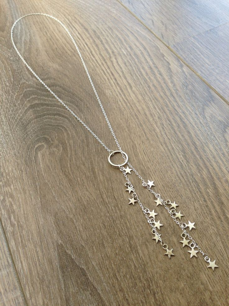 A personal favourite from my Etsy shop https://www.etsy.com/uk/listing/258062746/silver-star-long-necklace-delicate