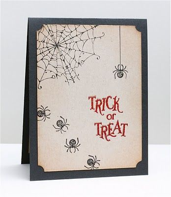 This card is a possible concept to build on for this year's Halloween Party invitation.