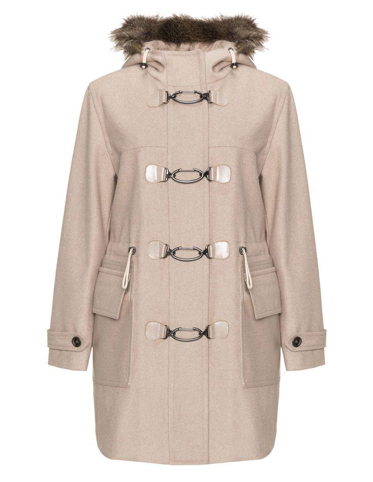 Triangle Toggle clasp duffle coat in Beige
