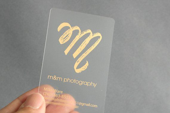 100 Business Cards Frosted Plastic Stock W Gold Silver Matte Glossy Metallic Foil Opaque Recyclable Custom Printed Clear See Through Usa Plastic Business Cards Business Cards Custom Business Cards