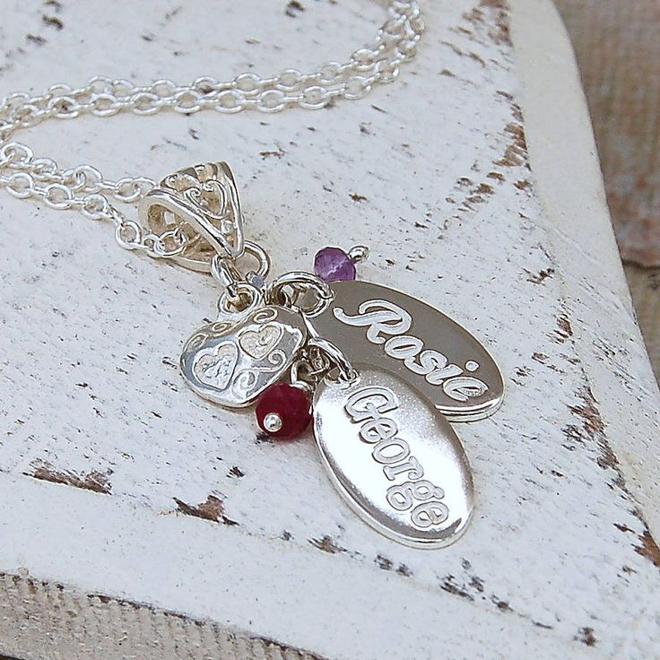 personalised silver birthstone necklace by indivijewels   notonthehighstreet.com