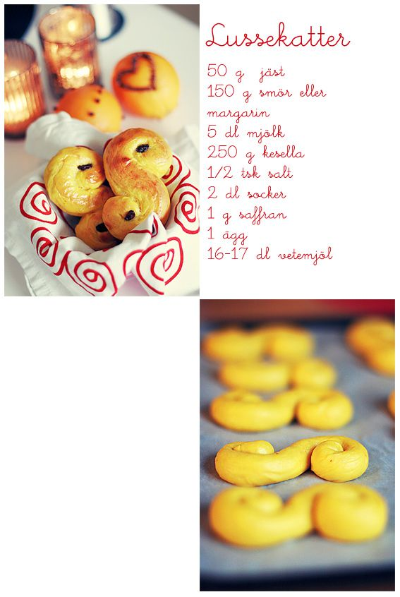 Lussekatter for St. Lucia ~ via Call me cupcake!