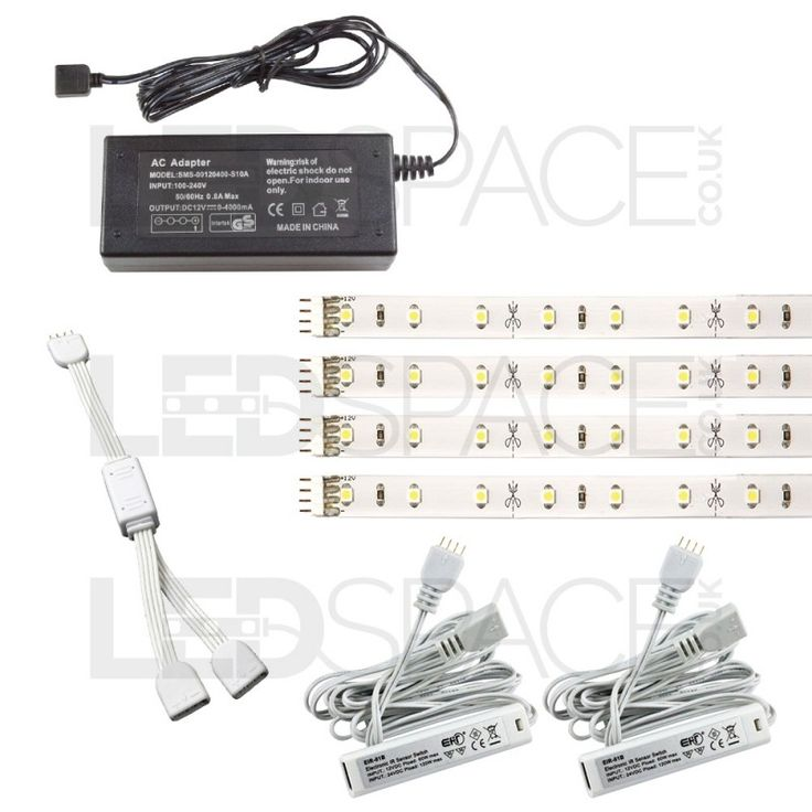 Wardrobe Lighting Kit Plug & Play TuffStrip LED Strip With Door Activated Sensors