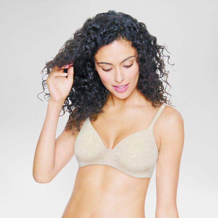 Hanes Women's Ultimate ComfortBlend T-Shirt Wirefree Bra HU03 - Oatmeal Heather 34C