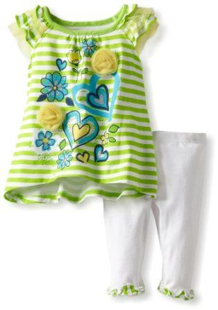 Young Hearts Baby-girls Infant 2 Piece Pullover And Pant, Green, 24 Months Young Hearts. $18.81