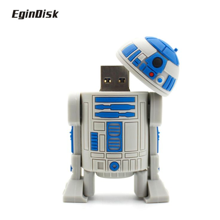 Star Wars R2d2 Pen Drive Catoon Doll Real Capacity  PenDrive Anime Usb Flash Drive 8gb 16gb 32gb Disk On Key Gift Usb 2.0 Stick #Affiliate