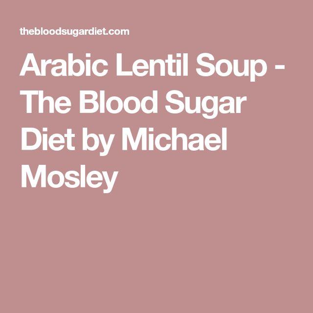 Arabic Lentil Soup - The Blood Sugar Diet by Michael Mosley