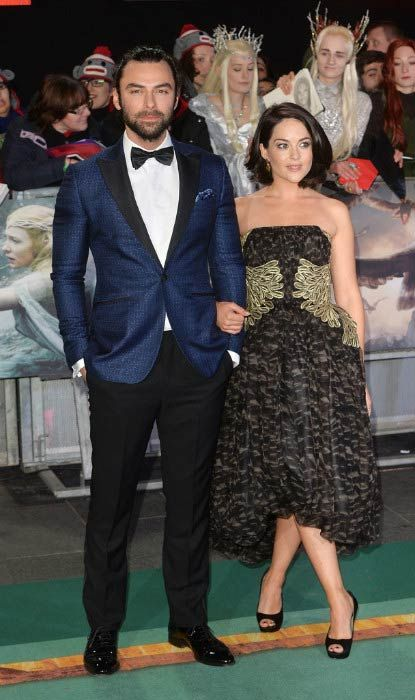 Aidan Turner and Sarah Greene at the world premiere of The Hobbit: The Battle Of The Five Armies in December 2014...