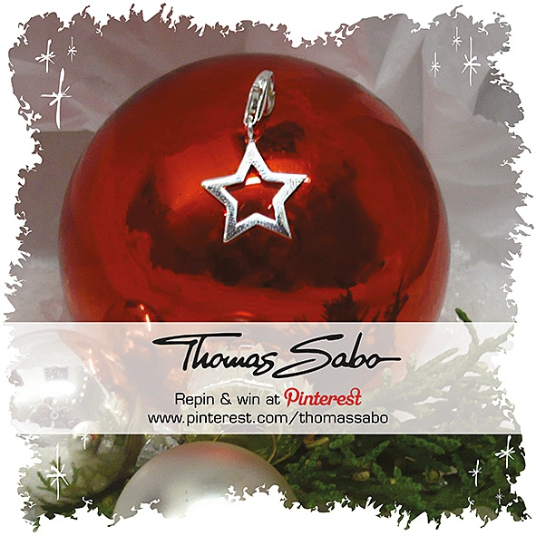 The lucky winner will be drawn on November 29, 2012! Important: Your facebook or twitter account must be linked to your Pinterest profile! Terms and conditions: http://images.thomassabo.com/www/2/2012/11/TC-Pinterest-Xmas-Sweepstake.pdf