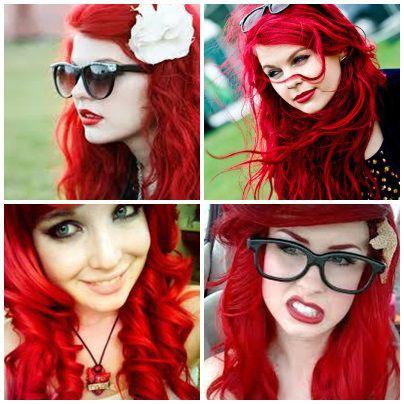 cabelo vermelho fantasia ariel