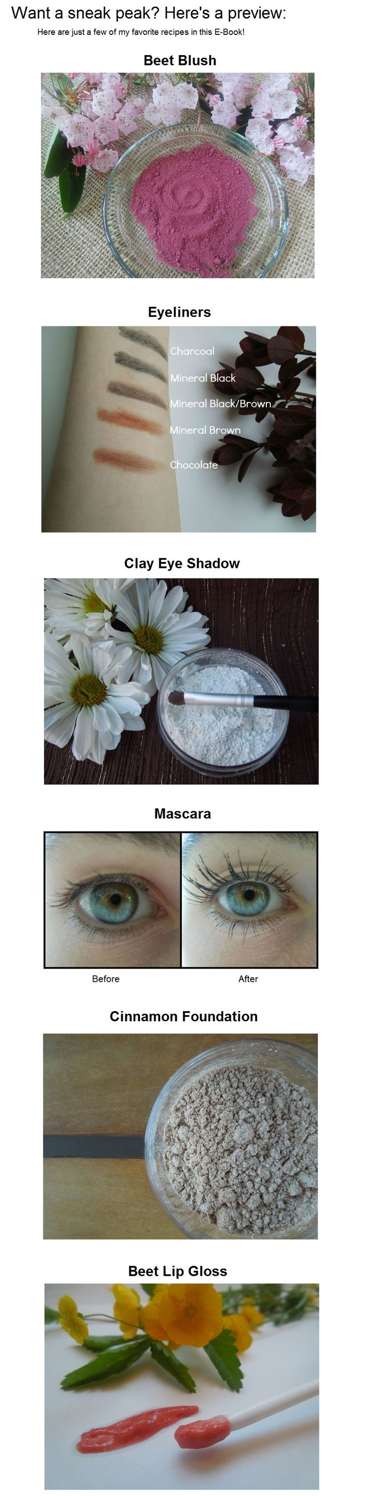 Organic, Homemade Makeup! (Because you shouldn't put it ON your body if you wouldn't put it IN your body)
