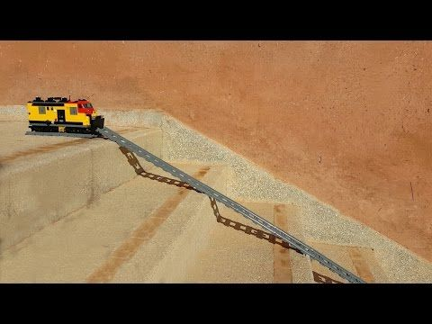 Lego Train Goes Around a Train Turntable!! - YouTube