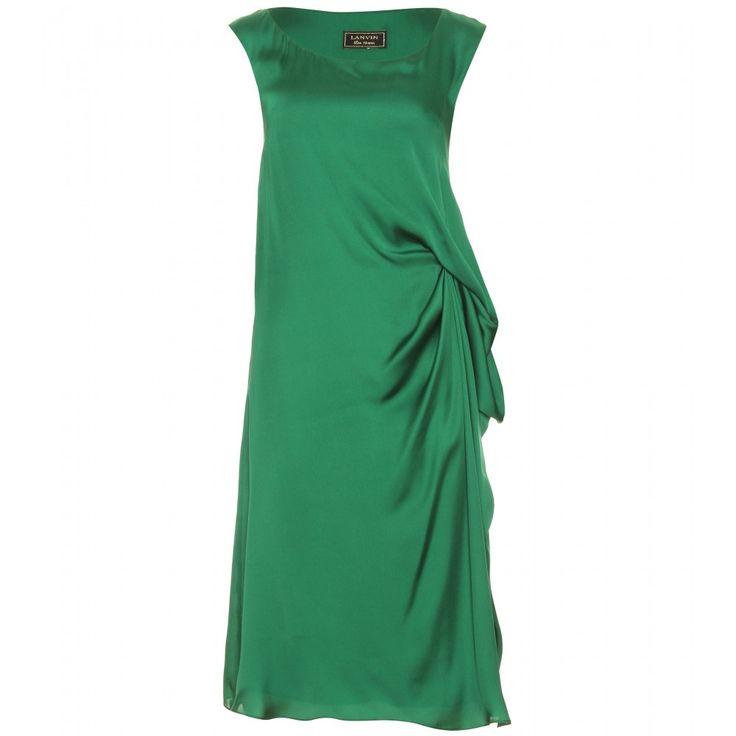 Lanvin Silk Draped Dress