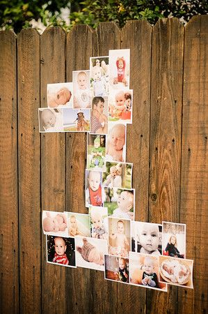 Make number with photos for a birthday party.