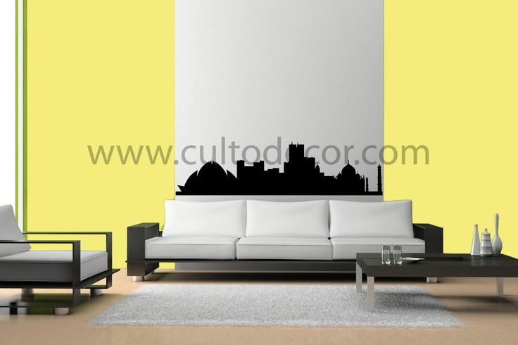 Sidney - Skylines em vinil de corte com 18 cores diferentes e 2 acabamentos (brilhante/mate). Saiba tudo em http://www.cultodecor.com