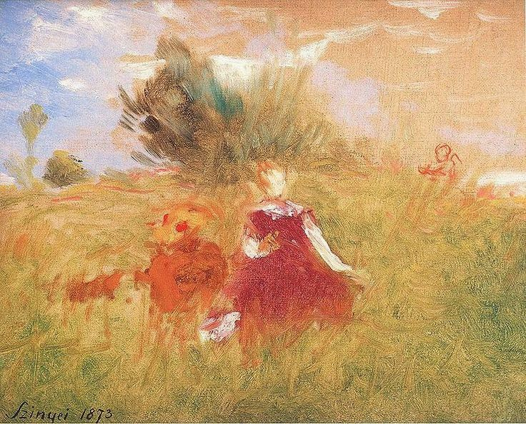 Impressionist Paintings And Painters: In the Green Grass By Pál Szinyei Merse