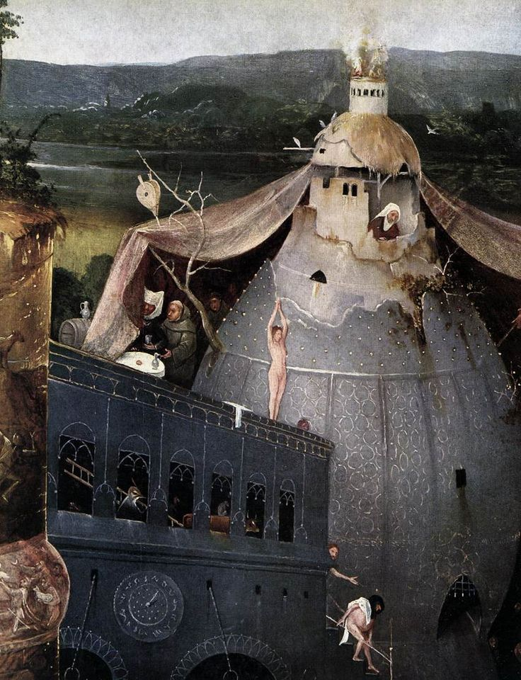 Triptych of Temptation of St Anthony (detail) - Hieronymus Bosch, 1505
