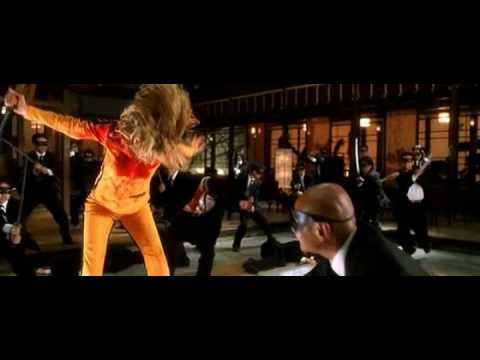 """""""Kill Bill"""" 2003  This is the highlight of the movie when the bride (Uma Thurman) Battles the  Crazy 88 , Gogo (Chiaki Kuriyama), & Oren Ishi (Lucy Lui) Directed by Quentin Tarantino WARNING VIDEO IS VERY GRAPHIC."""