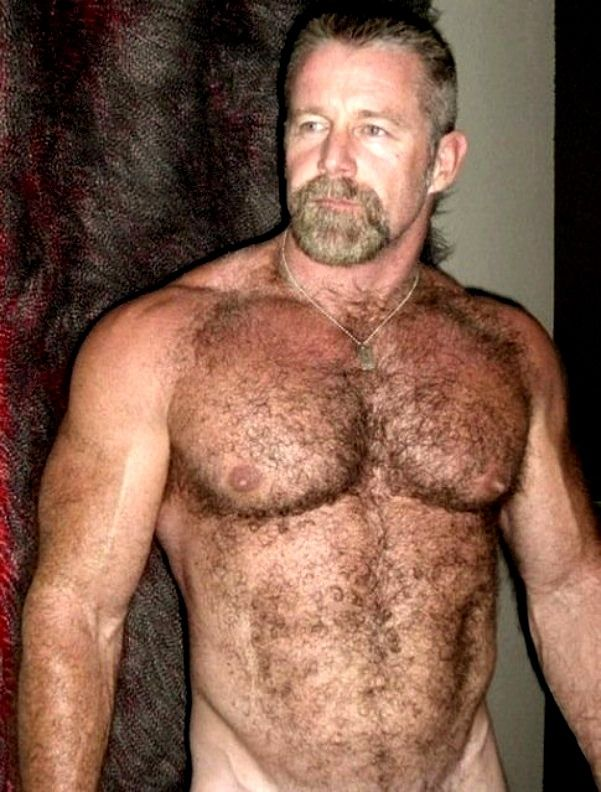 Erotic hairy bearded coach