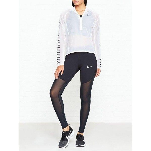 Nike Power Epic Lux Cool Tight Leggings- Black ($105) ❤ liked on Polyvore featuring pants, leggings, black, slim pants, slim trousers, slimming leggings, nike trousers and slim fit trousers