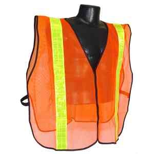 """2"""" Tape Non-Rated Safety Vest in orange and lime."""
