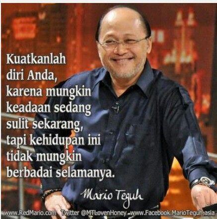 Quotes Mario Teguh Kuatkanlanh diri anda