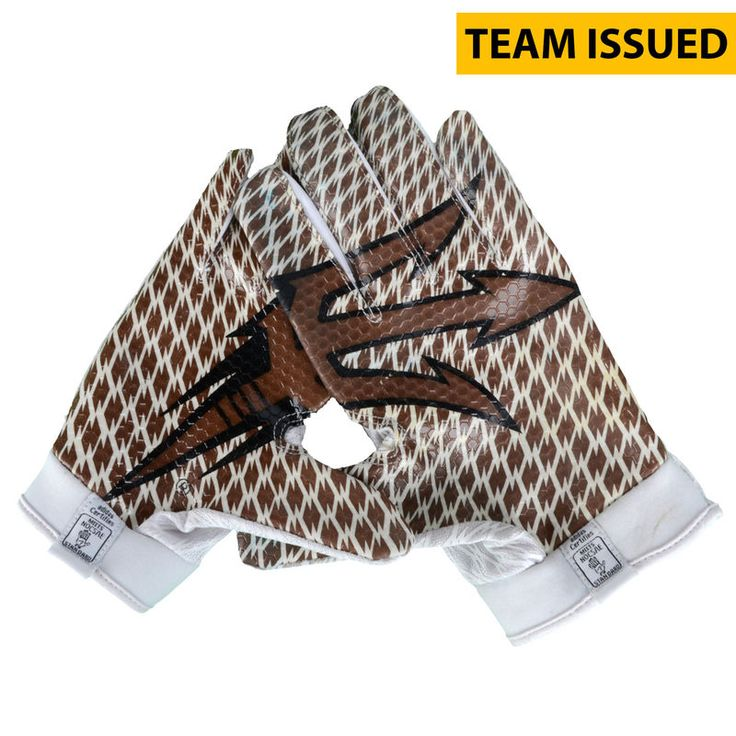 Arizona State Sun Devils Fanatics Authentic Team-Issued White and Bronze Adidas Zero Gloves from the 2015 Season - Size 2XL