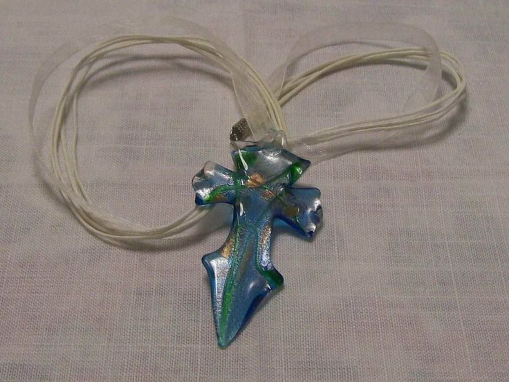 Glass sword necklace and satin - A$10.00