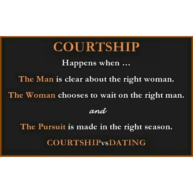 from Cole relationship between dating and courtship