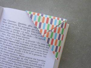 Les 25 meilleures id es de la cat gorie marque pages en origami sur pinterest signets en - Comment faire un marque page ...