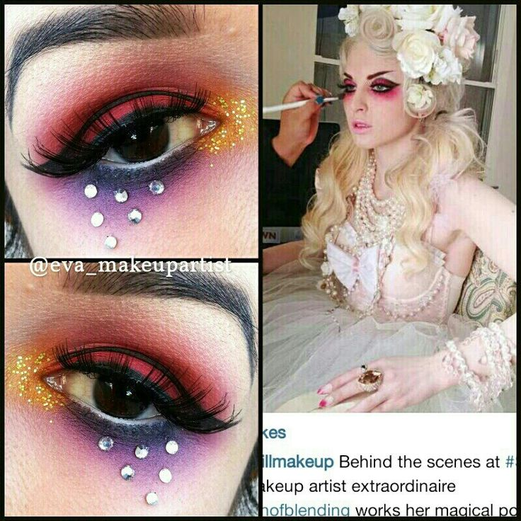 Twitter / eva_makeupartis: Inspired by the 1 and only @queenofblending using the #sugarpill @sugarpillmakeup burning heart pallet.