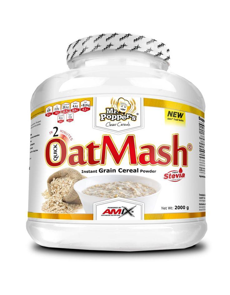 Mr. Popper's® OatMash® je extrudovaná ovesná kaše od Amix™ Nutrition. Vynikající ovesná mouka speciálně navržena pro rychlou přípravu kaše nebo ovesného nápoje. Tento skvěle chutnající produkt je ideálním zdrojem přírodní ovesné vlákniny.