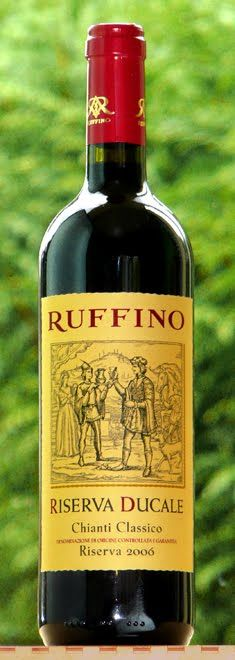 Ruffino Chianti Classico, great to cook sauces with too!