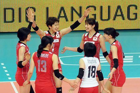 1次リーグのキューバ戦で笑顔を見せる全日本=25日、イタリア・バリ(EPA=時事) ▼26Sep2014時事通信|日本、キューバ下し2勝目=中国、ロシアなど2次リーグへ-世界女子バレー http://www.jiji.com/jc/zc?k=201409/2014092600152 #FIVB_Volleyball_Womens_World_Championship_2014 #First_round_Pool_D_Japan_vs_Cuba #Japan_womens_national_volleyball_team